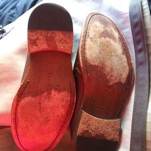 John varvatos brown 10.5 slip on mens shoes